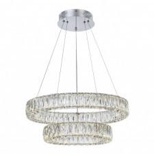 Italux perla md15030038-2b lampa wisząca oprawa kryształowa 1x60w led chrom glamour
