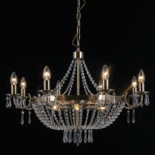Italux pnd-30138-8+4b cortina 12x40w lampa wisząca brąz antyczny szkło kryształowe