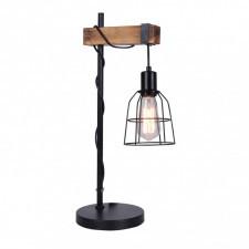 Italux ponte tb-4290-1 lampa stołowa oprawa biurkowa lampka nocna 1x60w czarny drewno retro