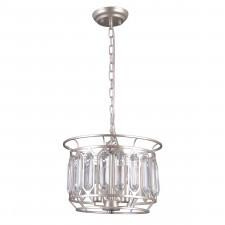 Italux priscilla pnd-43388-3b lampa wisząca oprawa kryształowa 3x40w srebrny szampański