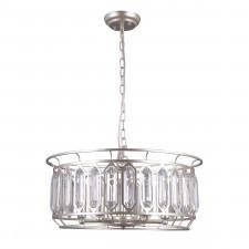 Italux priscilla pnd-43388-6b lampa wisząca oprawa kryształowa dekoracyjna 6x40w srebrny szampański