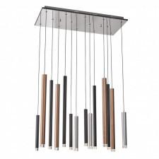 Italux reyna md17077-14b lampa wisząca oprawa dekoracyjna nowoczesna 1x56w led stal aluminium chrom