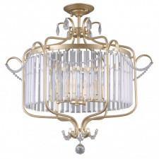 Italux rinaldo pnpl-33057-6b-ch.g lampa sufitowa oprawa kryształowa 6x40w szampańska złota