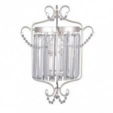 Italux rinaldo wl-33057-1-ch.s lampa ścienna kinkiet dekoracyjny 1x40w srebrny kryształ glamour