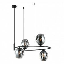 Italux roxane mdm-4046-4 bk+sg lampa wisząca oprawa industrialna 4x40w przydymiony grafit