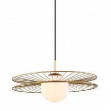 Italux sandy mdm-4002/1 gd lampa wisząca oprawa okrągła druciana 1x40w złoty biały