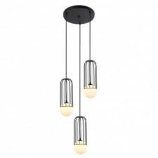 Italux simon mdm-3938/3 bk lampa wisząca oprawa industrialna druciana 3x25w czarny