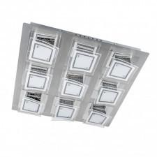 Italux winston c29560f-9a plafon lampa oprawa sufitowa 9x54w led chrom/biały