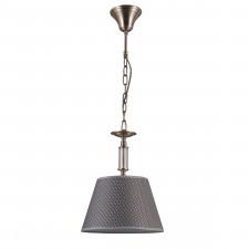 Italux zanobi pnd-43272-1 lampa wisząca z abażurem oprawa dekor 1x40w brąz antyczny