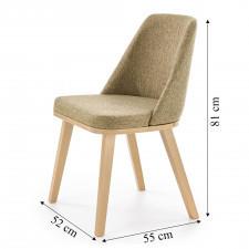 Krzesło do jadalni brad dąb miodowy/oliwkowy