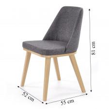 Krzesło do jadalni brad dąb miodowy/szary