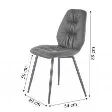 Krzesło do jadalni norbert szare