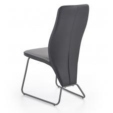 Krzesło do jadalni skyway czarne/szare ekoskóra