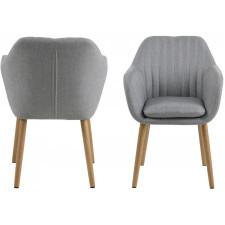 Krzesło do salonu emily jasnoszare