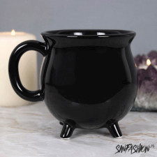 Kubek black decor plain cauldron