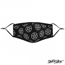 Maseczka black decor pentagram