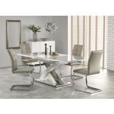 Stół rozkładany eric ii 160-220x90cm popielaty, szkło