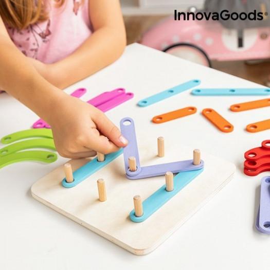 Drewniana zabawka litery i cyfry koogame innovagoods 27 części