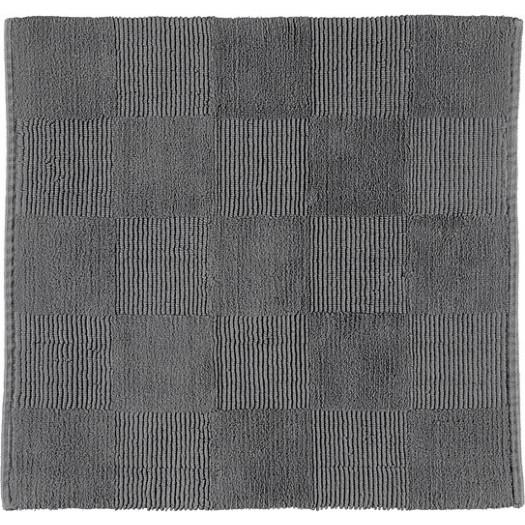 Dywanik łazienkowy cawo szachownica 60 x 60 cm antracytowy tkany ręcznie
