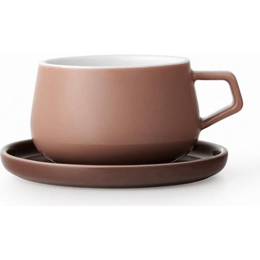 Filiżanka do herbaty ella brązowa