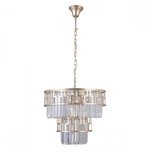 Italux filip pnd-43493-7 lampa wisząca kryształowa oprawa glamour dekoracyjna 7x40w złoty