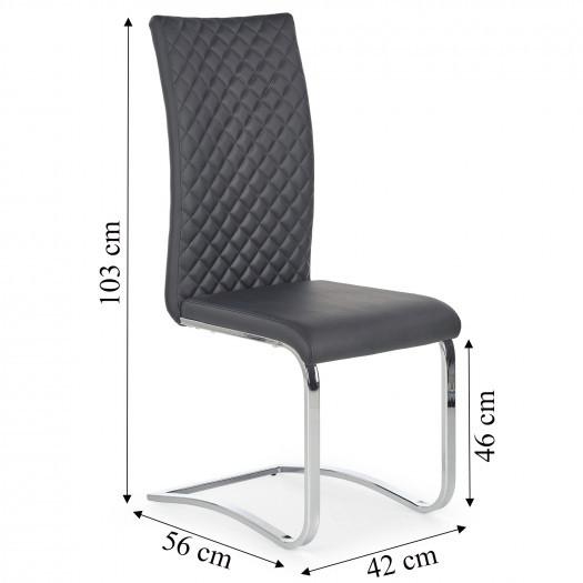 Krzesło do jadalni prima ekoskóra czarne