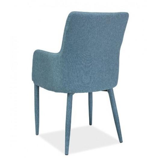 Krzesło tapicerowane do salonu elsa niebieskie