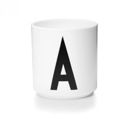 Kubek porcelanowy litera a design letters