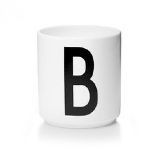 Kubek porcelanowy litera b design letters