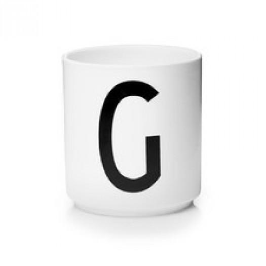 Kubek porcelanowy litera g design letters