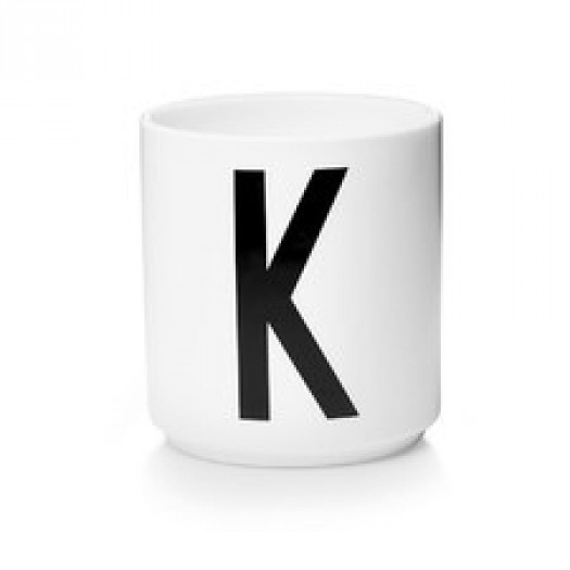 Kubek porcelanowy litera k design letters