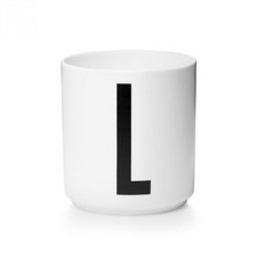 Kubek porcelanowy litera l design letters