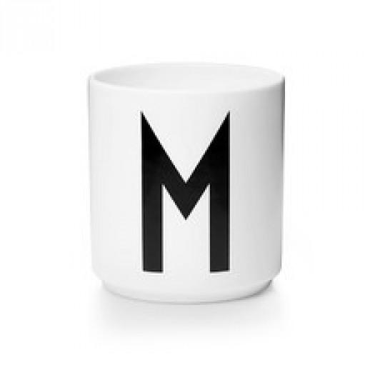 Kubek porcelanowy litera m design letters
