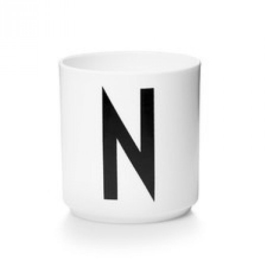 Kubek porcelanowy litera n design letters