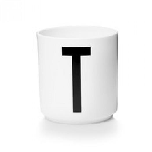 Kubek porcelanowy litera t design letters