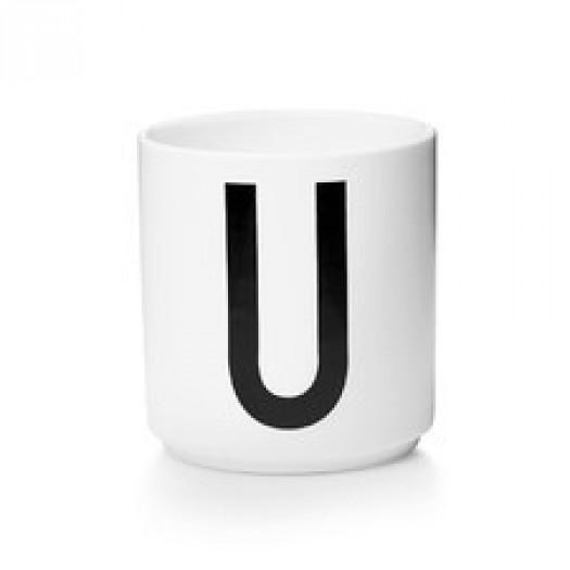 Kubek porcelanowy litera u design letters