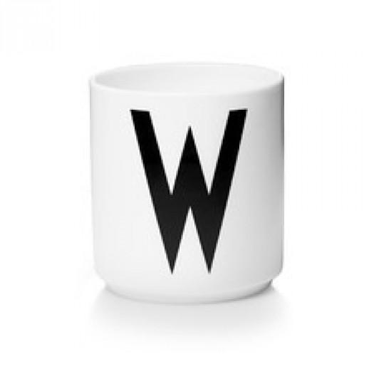 Kubek porcelanowy litera w design letters