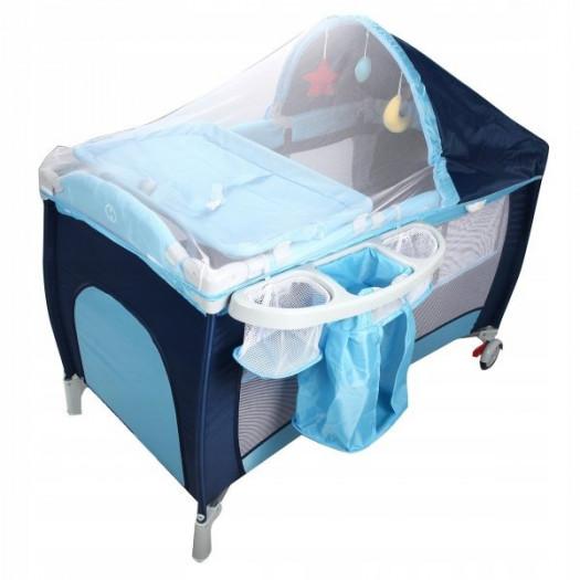 Łóżeczko turystyczne dla dzieci z moskitierą