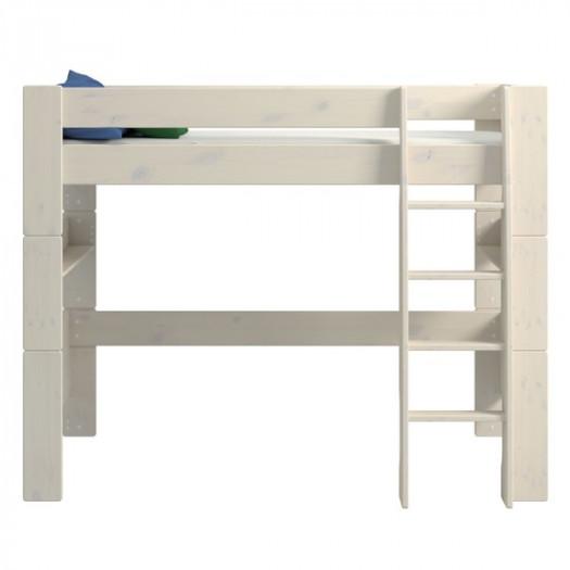 Łóżko piętrowe pojedyncze steens for kids, sosna bielona