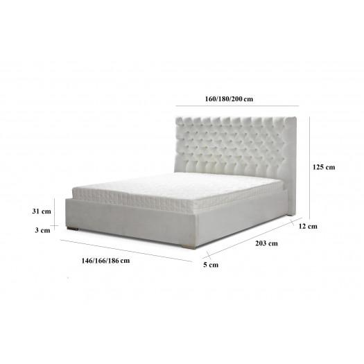 Łóżko tapicerowane glammy ii 140x200