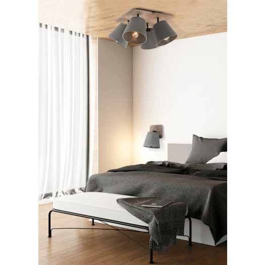 Plafon oprawa sufitowa lampa drewniana nowodvorski awinion 4x60w e27  brązowy 9716 - EnyoArt