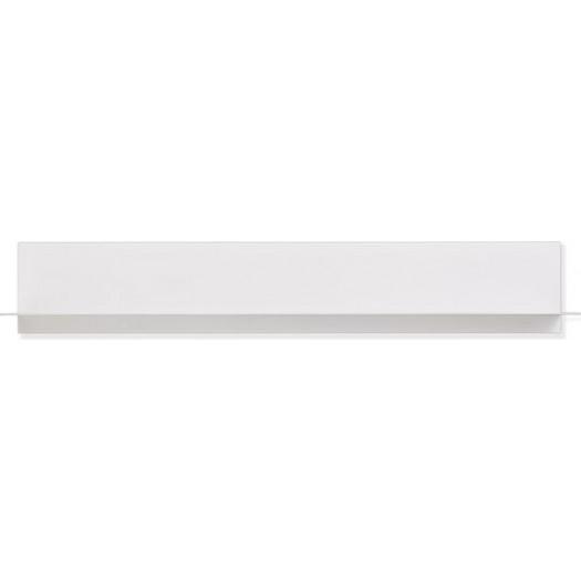 Półka długa design letters biała