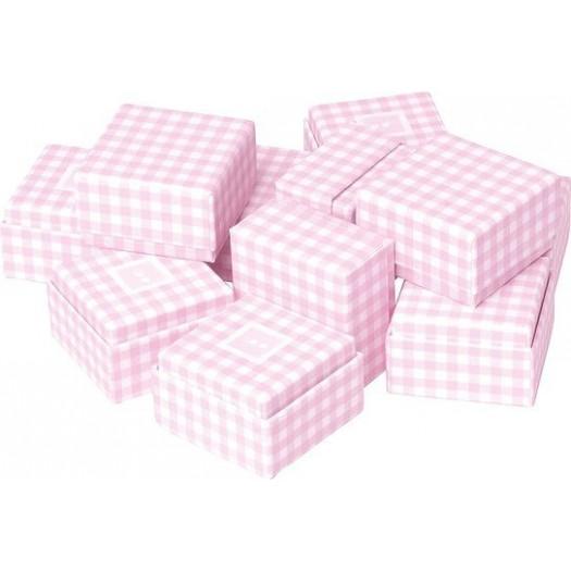 Pudełka prezentowe vichy 12 szt. różowe