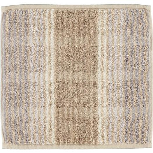 Ręcznik cashmere w paski 30 x 30 cm piaskowy