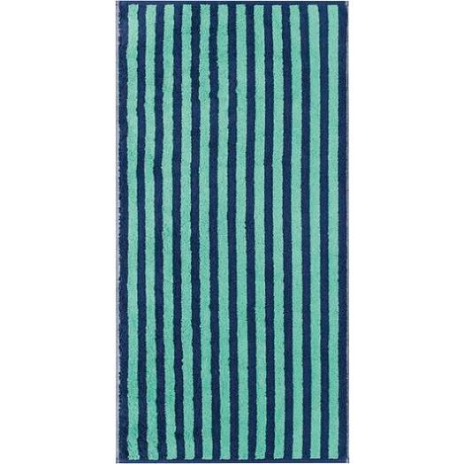 Ręcznik sea w pasy 50 x 100 cm miętowo-granatowy