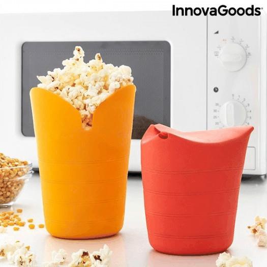 Składane silikonowe maszynki do popcornu popbox innovagoods (2 sztuki)