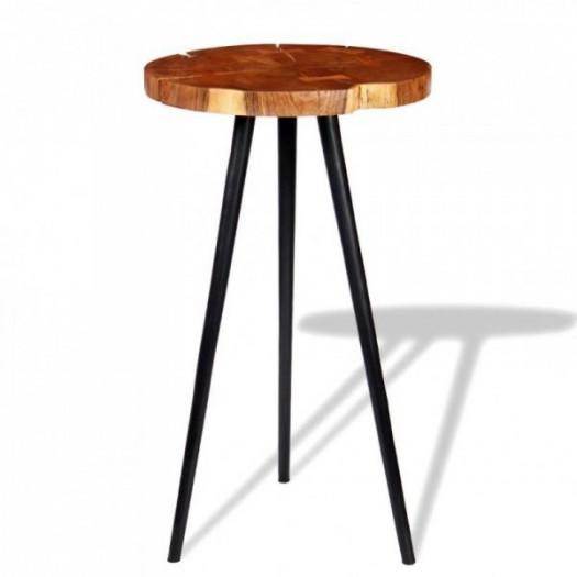 Stolik barowy plastry drewna akacjowego (55-60) x 110 cm