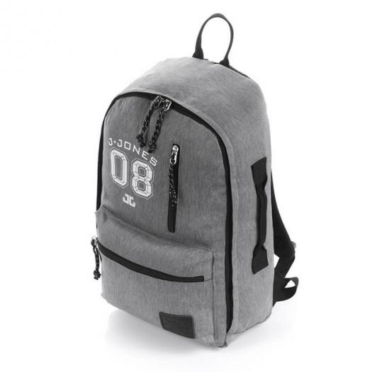Szary plecak szkolny młodzieżowy vintage