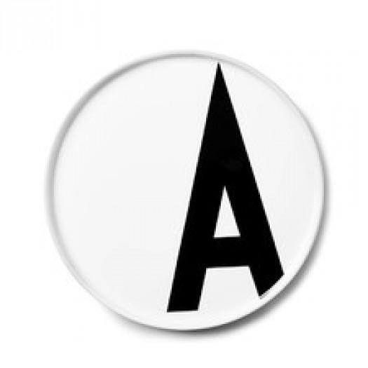 Talerz porcelanowy litera a design letters