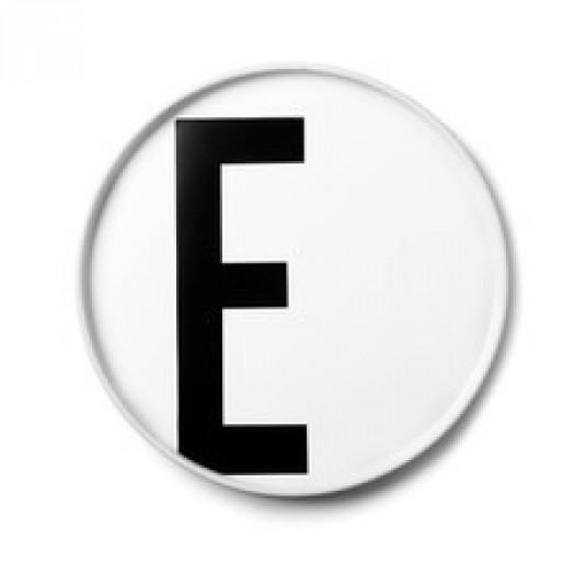 Talerz porcelanowy litera e design letters